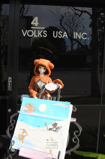 Annalise visiting Volks USA's Showroom