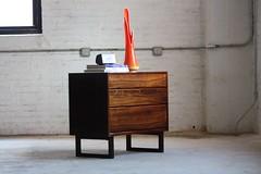 Ferocious Danish Mid Century Modern Rosewood Small Dresser Cabinet (Denmark, 1960's)