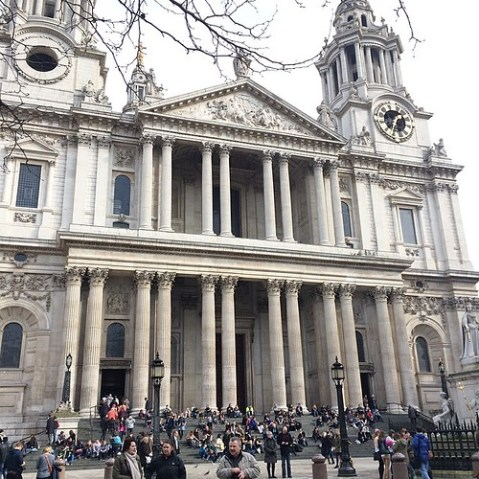 Early each day to the steps of Saint Paul's, the little old bird woman comes.
