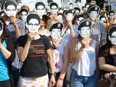 PRISM-Demo der Piratenpartei zum Besuch des amerikansichen Präsidenten Barack Obama