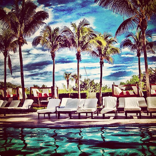 Hilton Bentley pool #miami #sobe by @MySoDotCom