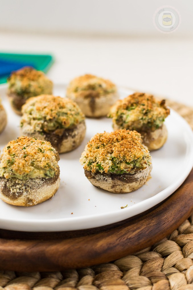 SPINACH AND CREAM CHEESE STUFFED MUSHROOMS   Little Spice Jar