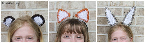 Bear Fox & Bunny Plastic Canvas Animal Ears DIY - Swoodson Says
