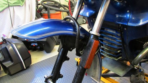 Fork Brace with Fender Placed Inside Forks