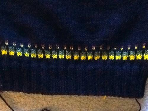 Stranded yolk EPS Sweater