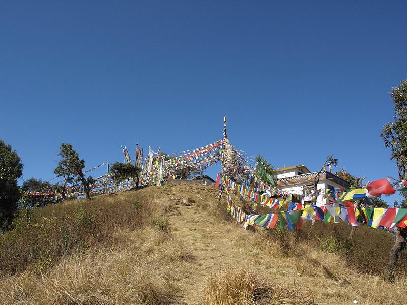 Prayer flags on Shivapuri's summit