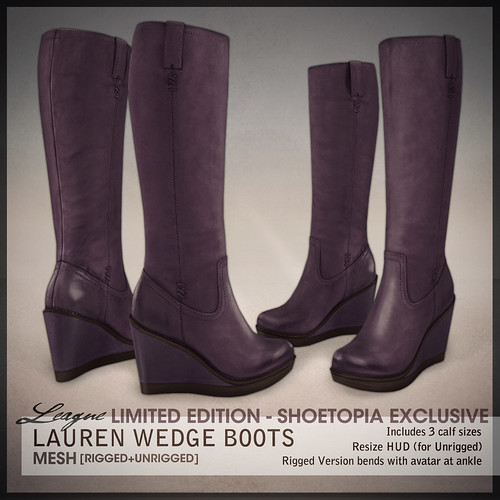 *League* Lauren Boots -Purple