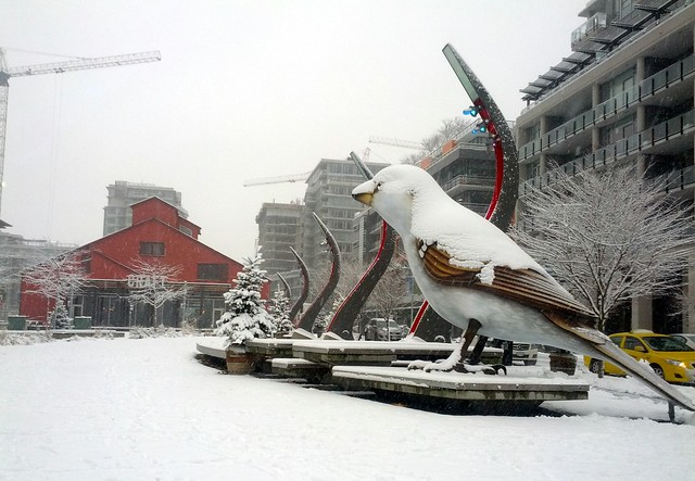 Bird Plaza in the Snow