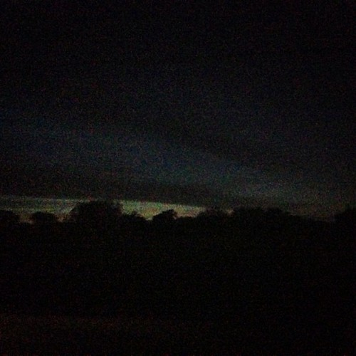 A few nights ago the sky looked like a Munch painting!