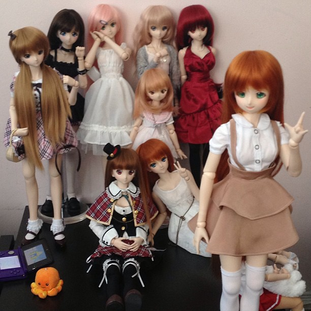 Little #dollfie #dream meet in Toronto with @Jezatron visiting from UK!