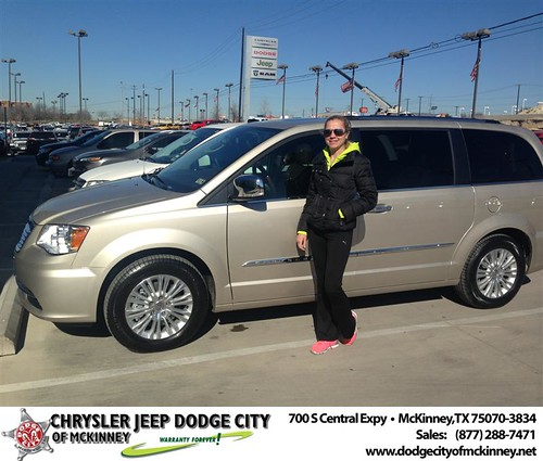 Thank you to Marta Drozdowicz on your new 2014 #Chrysler #Town & Country from Craig  Jackson and everyone at Dodge City of McKinney! #NewCarSmell by Dodge City McKinney Texas