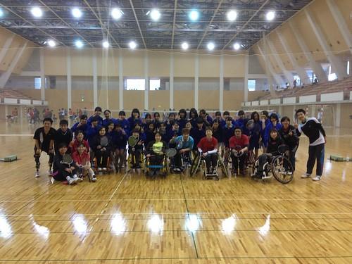 20140322車椅子バドミントン体験会_集合写真