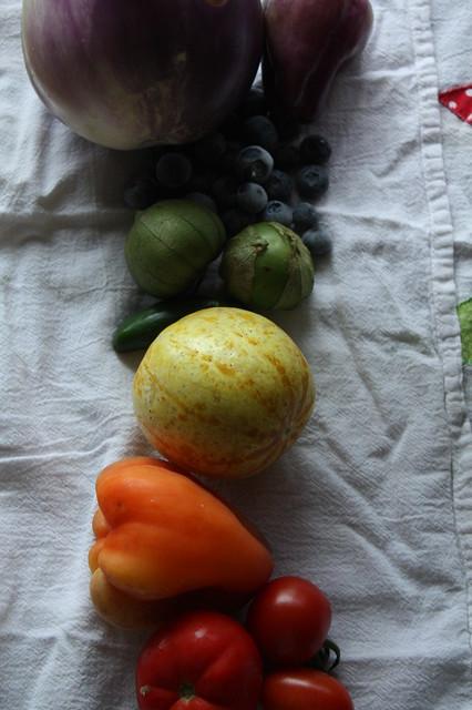 A Rainbow of Vegetables