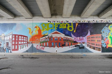 Ryan's mural design under U.S. 27