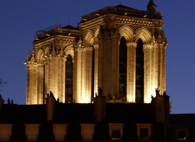 Night Seine Notre Dame