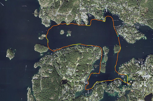Kayak Route - Pender Harbour