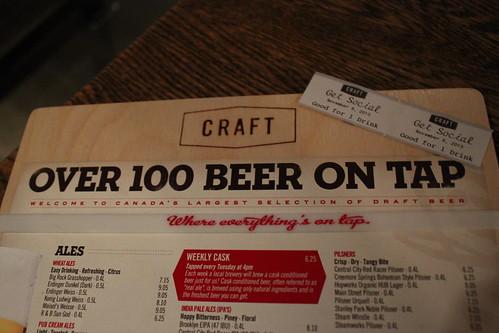 100+ beer on tap at Craft Beer Market
