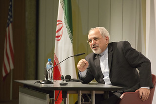 Iranian Foreign Minister Zarif Speaks to the Media
