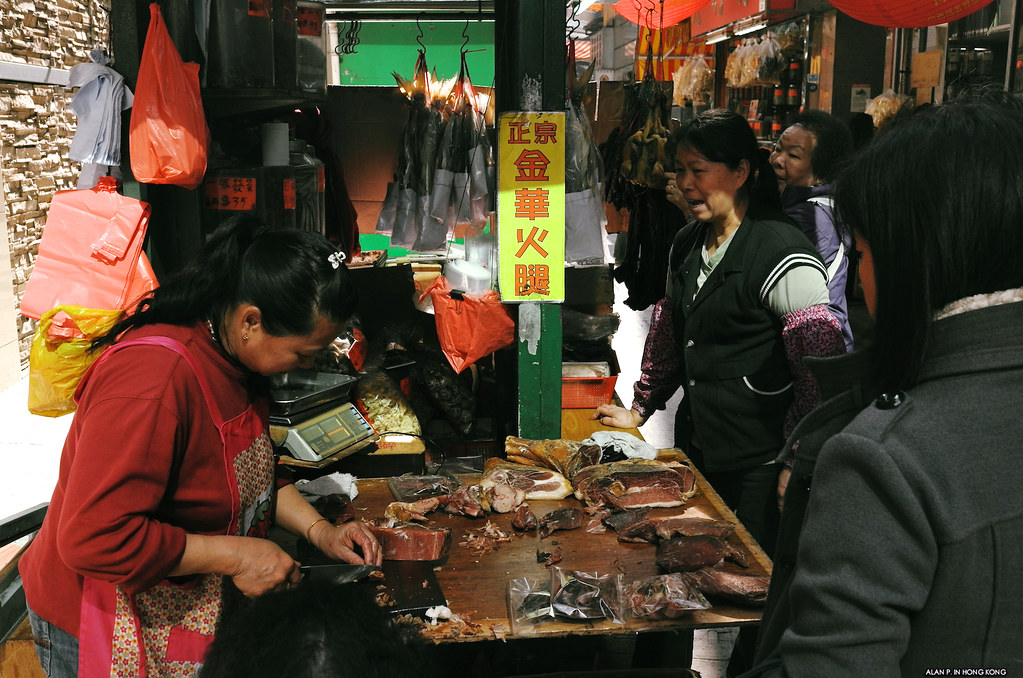 Chinese cured ham stall
