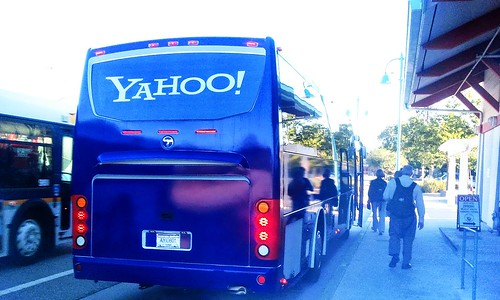 Yahoo employee bus in Scotts Valley