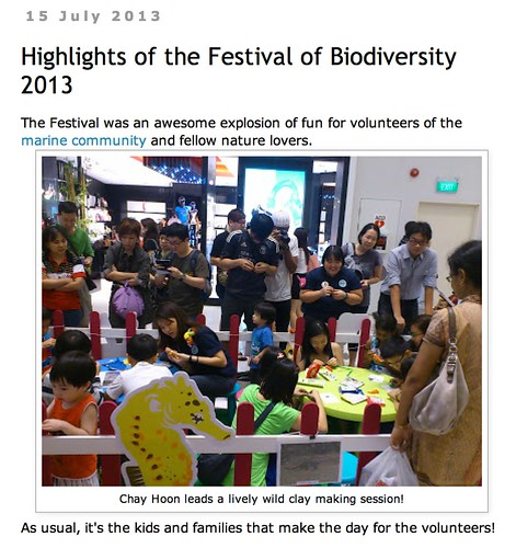 wild shores of singapore: Highlights of the Festival of Biodiversity 2013