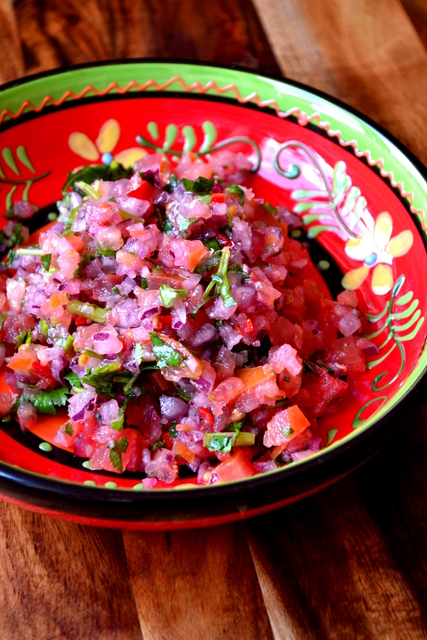 Onion Hispanic And Tomato Salsa