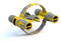 [MOC] Anakin's Aethersprite Interceptor Booster Ring ...