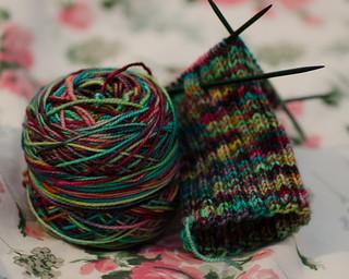Dark Painted Socks