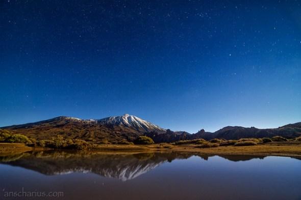El Teide with transient Lake after a huge storm - Nikon D800E & SAMYANG 2,8/14mm