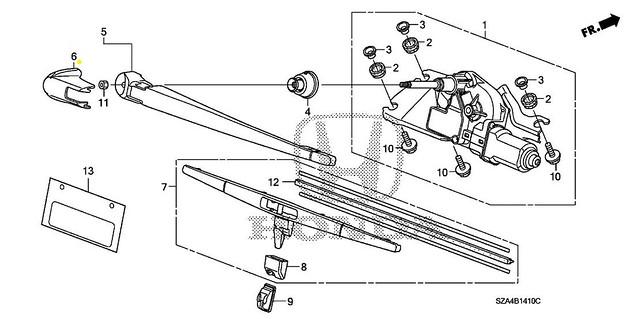 Service manual [Replace Rear Wiper Arm 2012 Honda Pilot