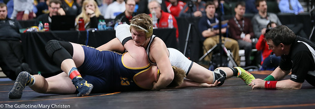 285AA - 3rd Place Match - Chandler Kurth (Hutchinson) 45-2 won by fall over Manny Alvarez (Columbia Heights) 39-4 (Fall 3:19)
