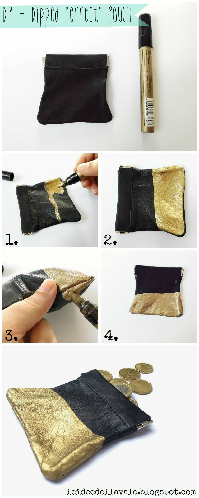 Dipped effect pouch Foto Tutorial