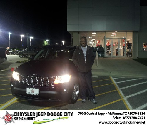 Happy Anniversary to Anthony H Webb on your 2013 #Jeep #Compass from Brent Villarreal  and everyone at Dodge City of McKinney! #Anniversary by Dodge City McKinney Texas