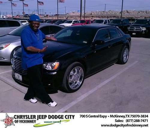 Thank you to Frederick Hudson on your new 2014 #Chrysler #300 from David Walls and everyone at Dodge City of McKinney! #NewCarSmell by Dodge City McKinney Texas