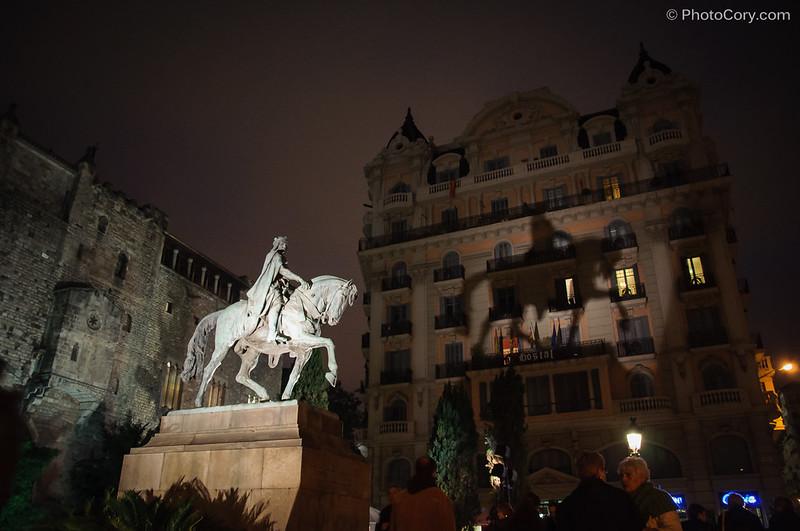 statue horse Barcelona