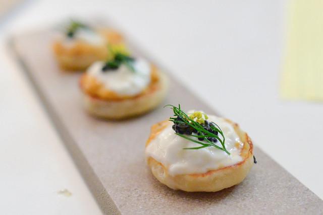 english muffin, uni, burrata, caviar, liquorice herbs