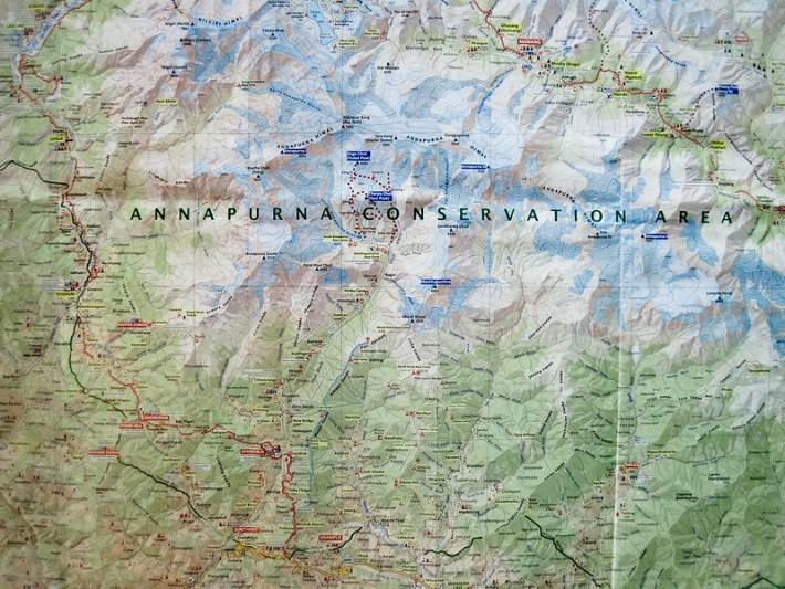 Annapurna Base Camp Trek Route