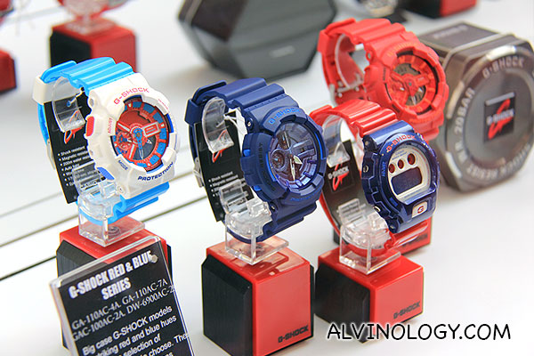 G-SHOCK Red & Blue series