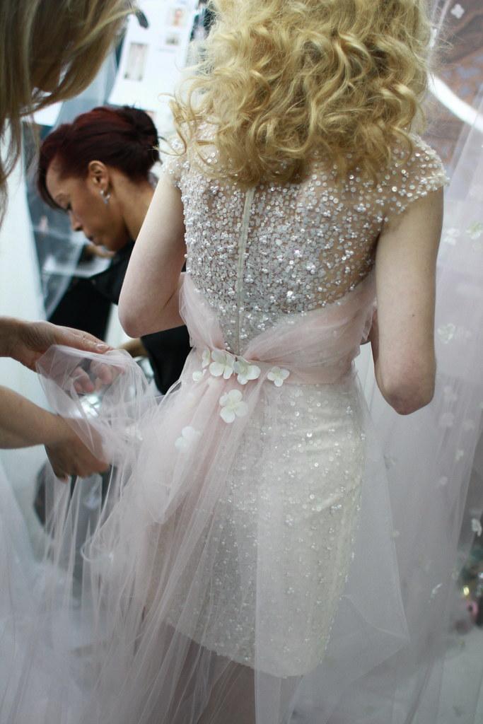 Reem Acra Spring 2014 Bridal- Backstage - 010