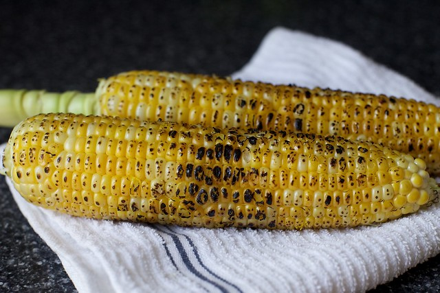 charred corn smells amazing
