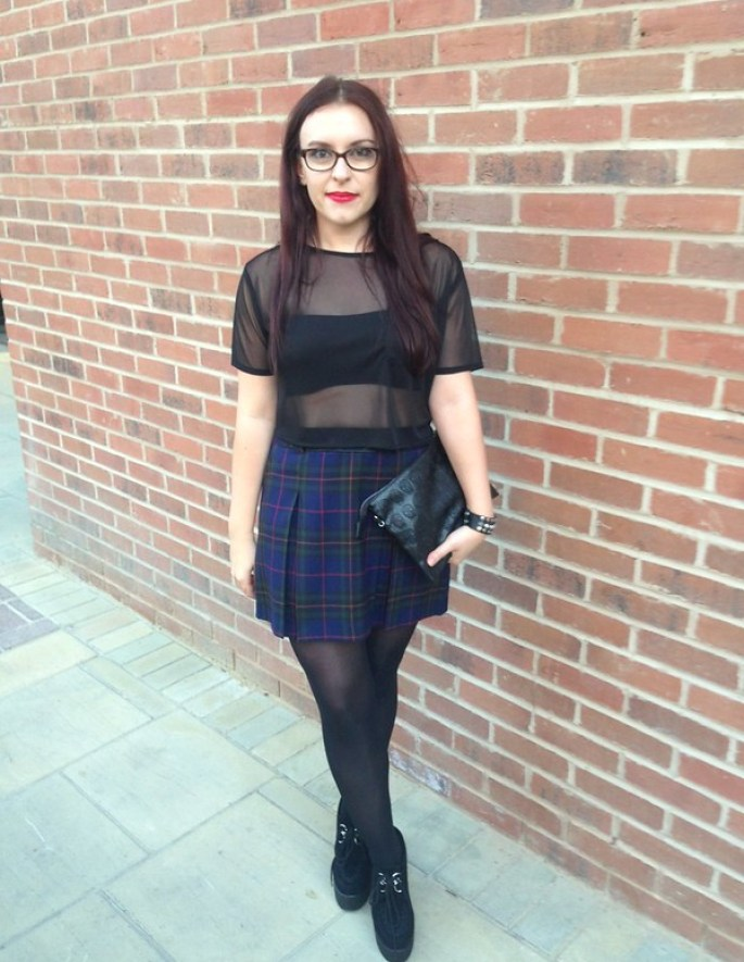 tartan outfit of the night