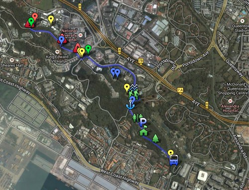 Battle of Pasir Panjang & LSM1103 Kent Ridge Walking Routes - Google Maps