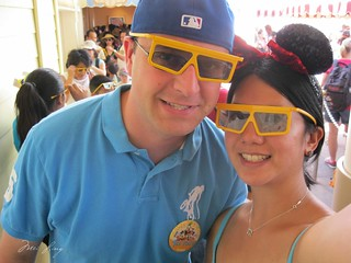 Dan and I and our 3D glasses.