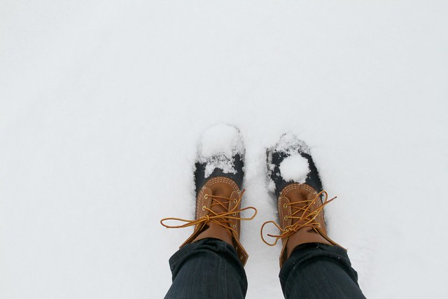 bean boots, of course.