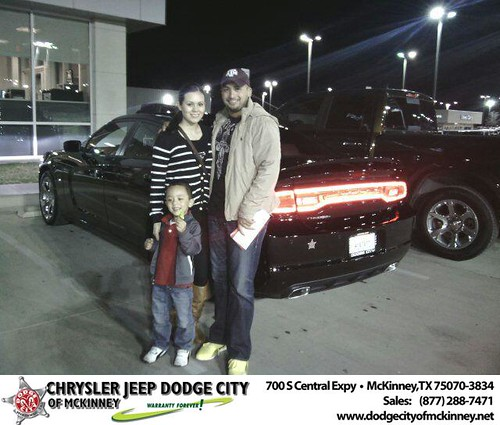 Thank you to Jesus De Leon on your new 2014 #Dodge #Charger from Tomas Martinez and everyone at Dodge City of McKinney! #NewCar by Dodge City McKinney Texas