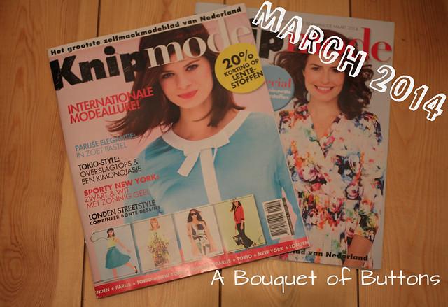 Knipmode, maart, march, 2014