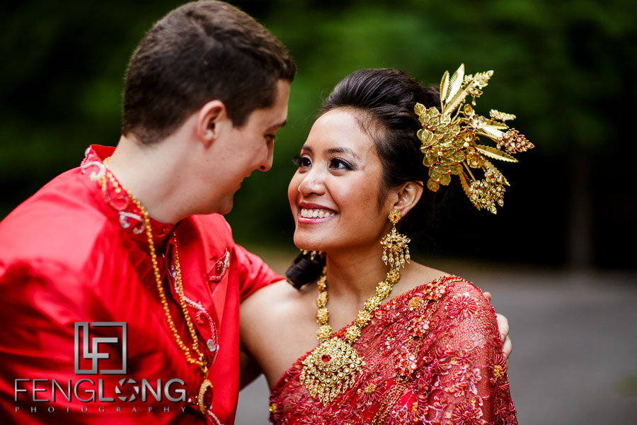 Cambodian bride and groom creative wedding day portraits