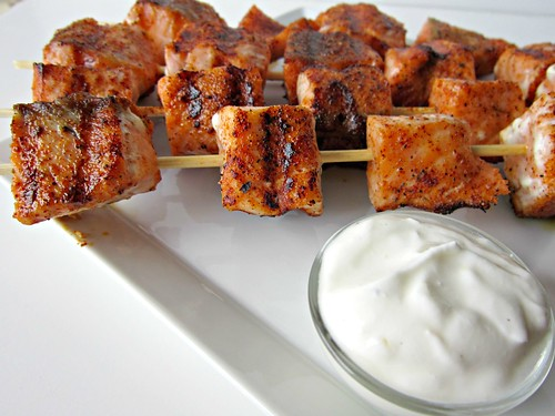 Blackened Salmon Kabobs 003