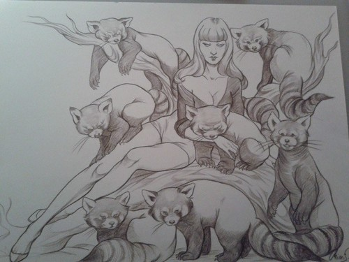Early look at the drawing for the new piece from Mimi S. for 'Wild At Heart II' with Thinkspace at this October's Beyond Eden