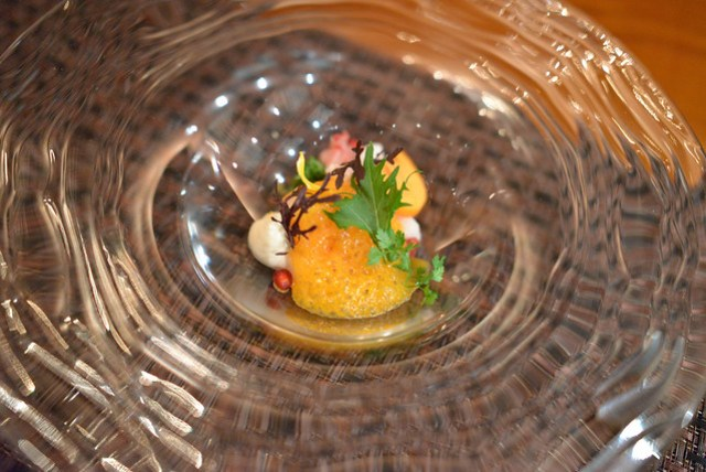 Crab and Persimmon asian pear, cucumber, persimmon sauce